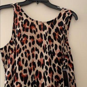 Sleeveless cheetah print dress